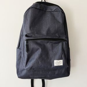 Simple Navy Zipper Backpack with Dots